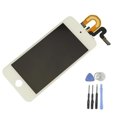 Top Quality Display For Apple ipod Touch 5 5th LCD Touch Screen Display with Digitizer Full Assembly White,Free shipping