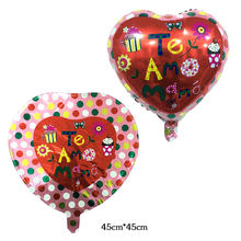 18inch Love balloon Mother's day heart shape Mama Aluminum foil balloons Mother festival Wedding party decoration globos 45cm*45(China)