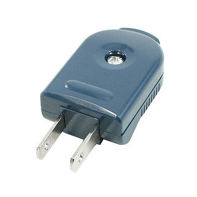 цена на AC 250V 10A 90 Degree Rotating 2 Pin US Plug Power Adapter Connector Teal Blue