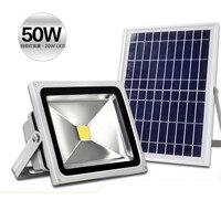 50W Solar Flood Light Floodlight Energy Saving Lighting Stalls Lights Lawn Lamp Multi Purpose Lamp Lithium