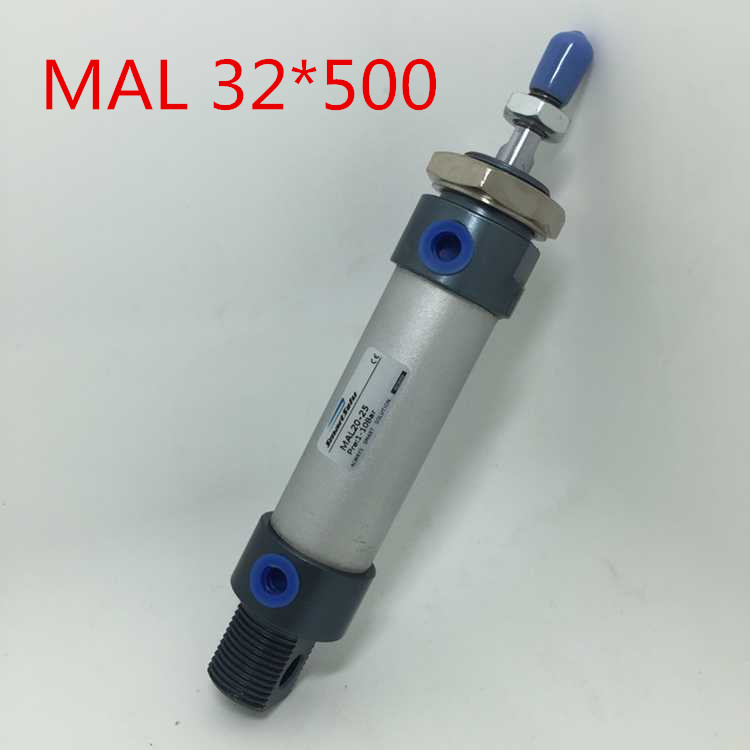 Free Shipping MAL Series 32MM Bore 500MM Stroke Aluminium Alloy Pneumatic Mini Air Cylinder , 1/8 Port Double Acting 32x500 mm mal cylinder mal air cylinder bore 16mm stroke 125mm iso standard double acting free shipping page 5