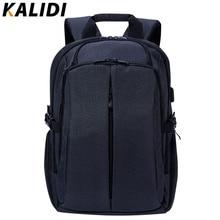 Kalidi hombres laptop mochila de viaje de negocios multifunción moda negro mochila portátil bolsa de la escuela mochilas hombres 17.3 pulgadas