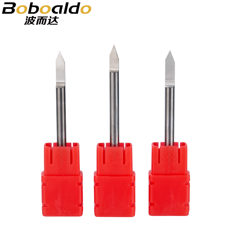 2pc/set 3.175mm Engraving Bits end mill <font><b>CNC</b></font> Router Bit TOP Quality degree 20 25 30 <font><b>40</b></font> <font><b>60</b></font> 90 milling cutter Machine Accessories image