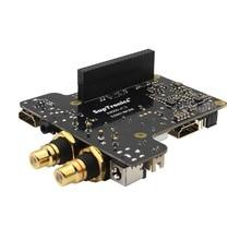 X4000K HIFI Audio Mini PC Kit Expansion Board + Case + Adapter for Raspberry Pi 1 Model B+/ 2 Model B / 3 Model B
