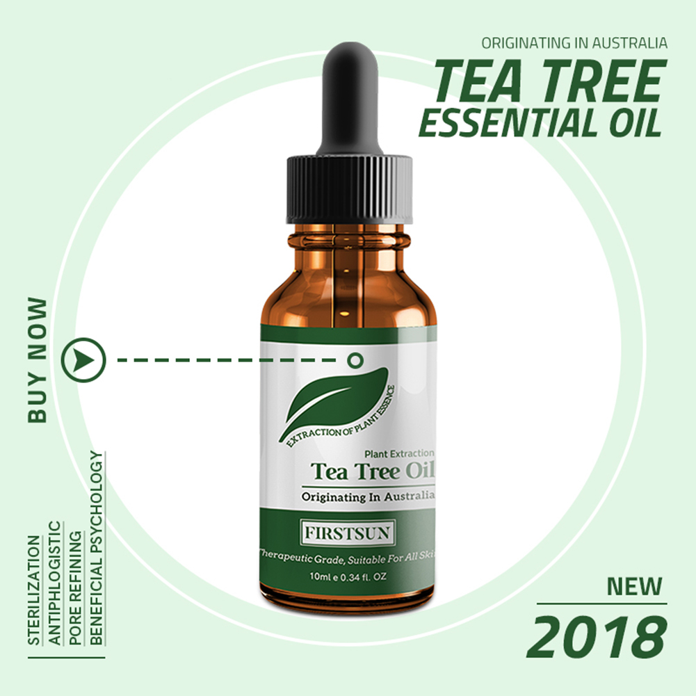Tea Tree Essential Oil Pure Organic Moisturizing Massage Oil Anti-wrinkle Removal Acne Shrink Pores Repair Essential Oil TSLM1 10