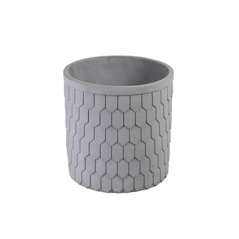 Circular cement flower pot silicone mold square potted landscape indoor and outdoor succulent plant concrete flower pots mold