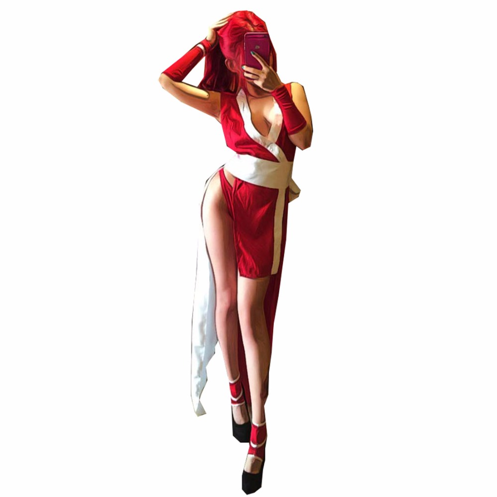 2017 King of Fighters 97 MAI SHIRANUI cosplay costumes Japanese anime sexy costumes j ghee 2design anime figures arcade game the king of fighters sexy mai shiranui snk2 30cm smile ver pvc collection model toy