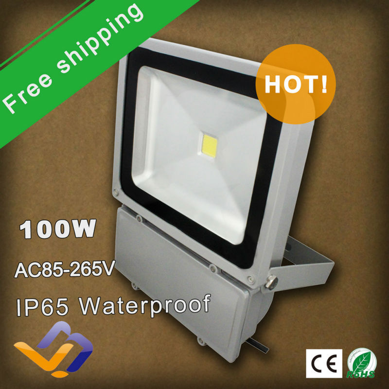 10pcs/lot free shipping factory sale! 100W IP65 waterproof LED FloodLight single color Outdoor Lighting high power lamp ultrathin led flood light 200w ac85 265v waterproof ip65 floodlight spotlight outdoor lighting free shipping