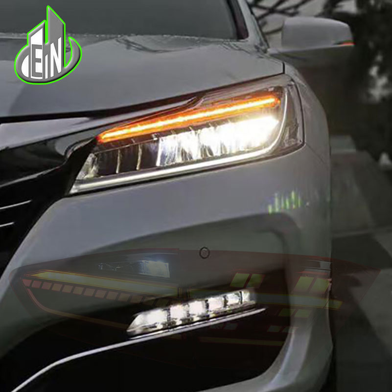Car Styling Head Lamp For Honda Accord 10th Headlights 2016 2017 Led High Beam Low With Yellow Turning Signal Bar In Light Embly From
