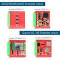 RS232 RS485 CAN 4G NB-IOT поддержка Quectel EC20/EC25/BC26 модуль расширения imx6ul компьютерная Встроенная промышленная плата IOT шлюз