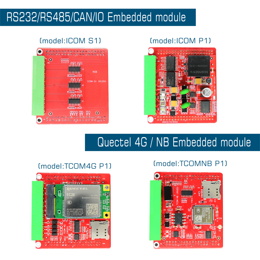 RS232 RS485 CAN 4G NB-IOT Support Quectel EC20/EC25/BC26 Extension Module Imx6ul Computer Embedded Industrial Board IOT Gateway