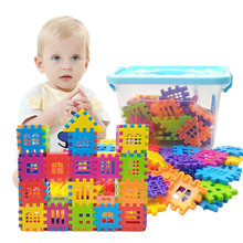 Childrens plastic building blocks assembling puzzle toys DIY Castle early education gifts