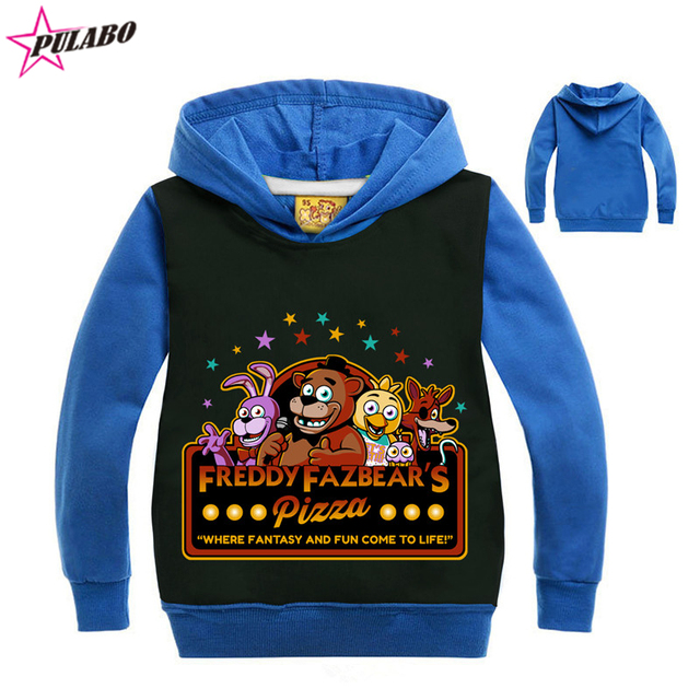 Kids sport clothes Children's Five Nights at Freddys top baby Boys clothes Long sleeve Autumn spring Cartoon Hoodies Sweater