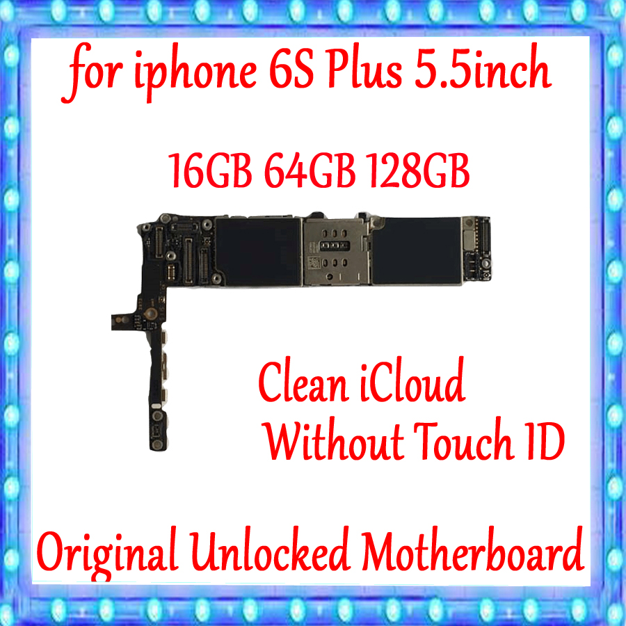 For IPhone 6s Plus Motherboard Without Touch ID Unlocked Disassembly Mainboard Good Working Logic Board Tested Full FunctionsFor IPhone 6s Plus Motherboard Without Touch ID Unlocked Disassembly Mainboard Good Working Logic Board Tested Full Functions