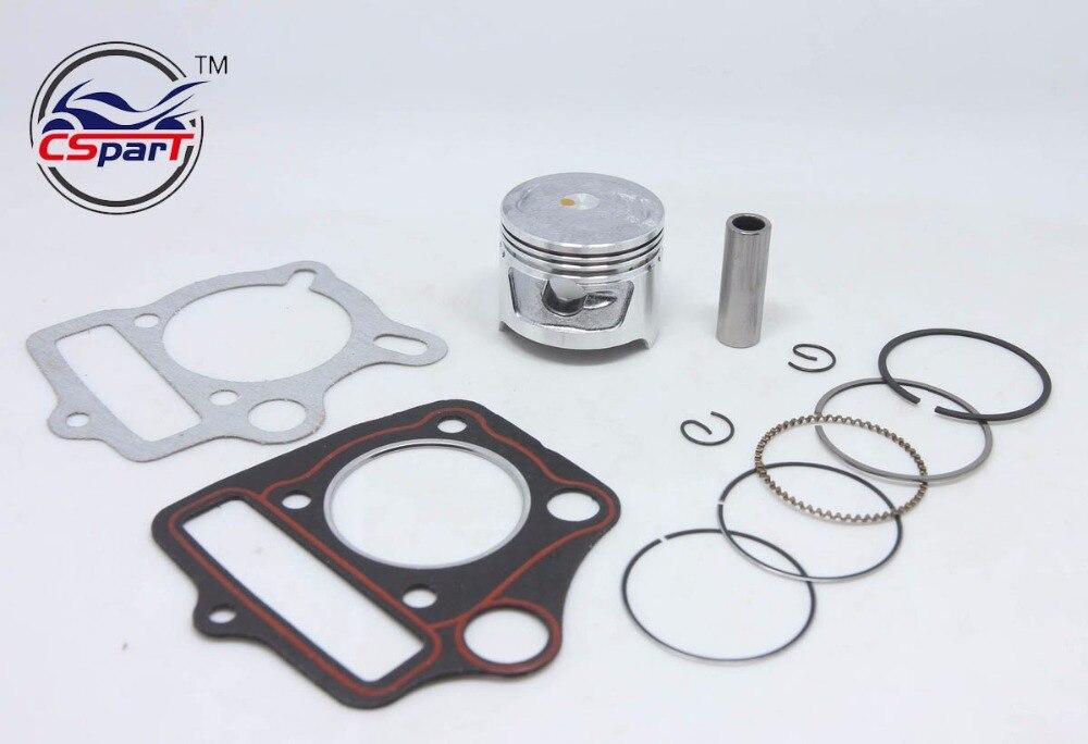 52.4mm 13mm 110CC Piston Ring Kit 3 Valve Pit Dirt Bike ATV Quad ...