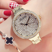 Top Brand Luxury Quartz Ladies Watch Womens Full Crystal Diamond Dial Stainless Steel Bling Fashion Dress Bracelet Wristwatches