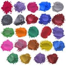 24 цвета x5g мыло Слюда Порошок эпоксидной смолы краситель жемчужный пигмент натуральная слюда Минеральное Мыло ручной работы краситель порошок