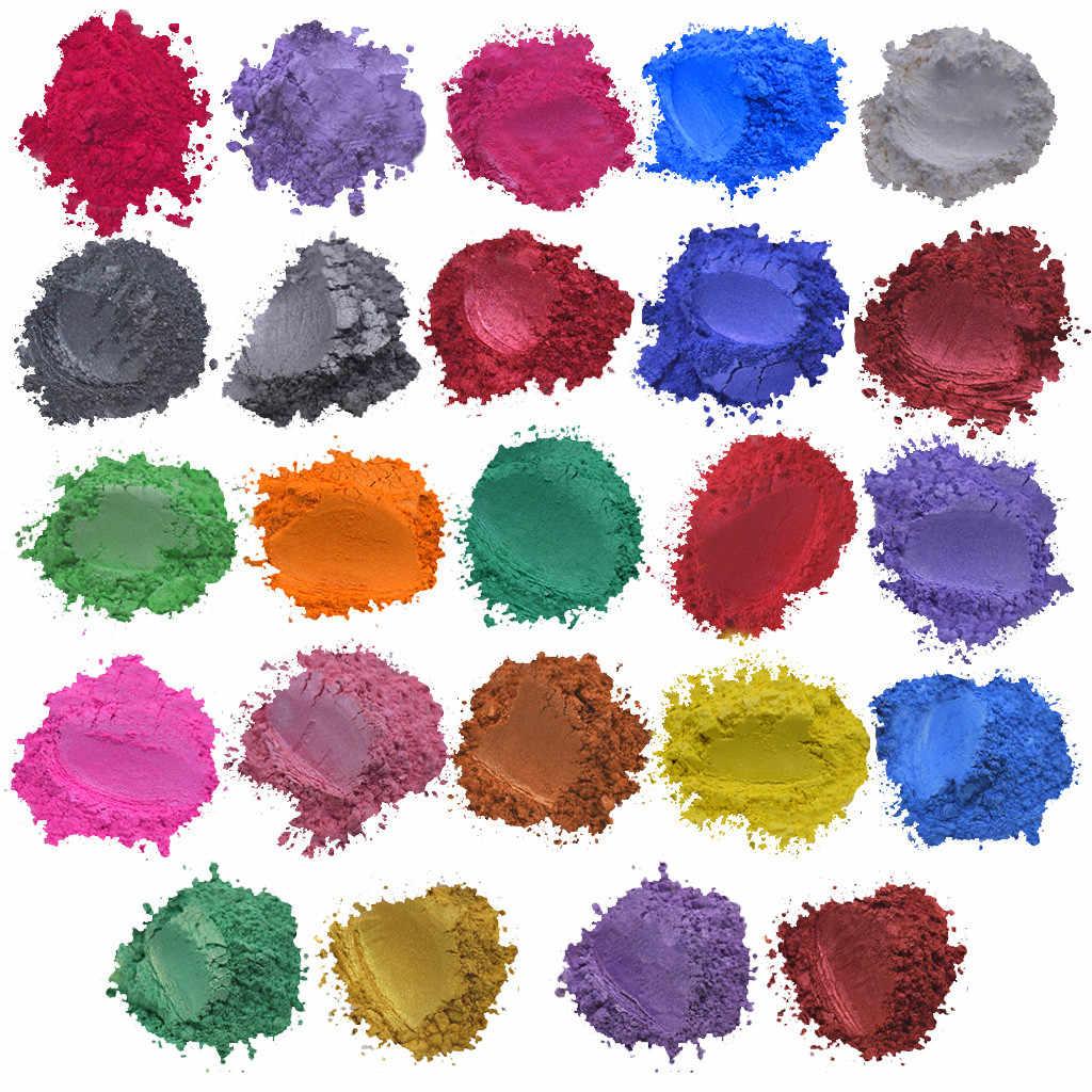 24 色 x5g 石鹸雲母粉エポキシ樹脂染料パール顔料天然雲母ミネラル手作り石鹸着色粉末