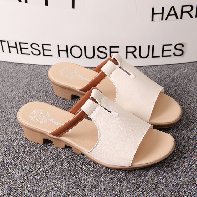 New Summer Slipper Women Slippers Slides Women Sandals Slippers Word Hollow out Women Single Sandals Non-slip Fashion B1210 6
