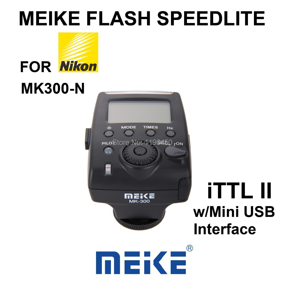 MEKE Meike Mini TTL LCD Flash Speedlite Light MK 300N for Nikon D5100 D3100 D7000 D7100 D600 D3000 D800 D90 D80 D60 D300s