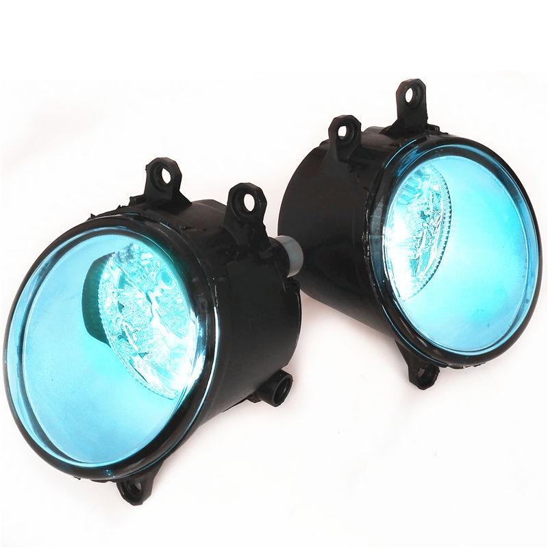 For PEUGEOT 107 2012-2015 DRL Led Blue Crystal Blue Fog Lights Lamps