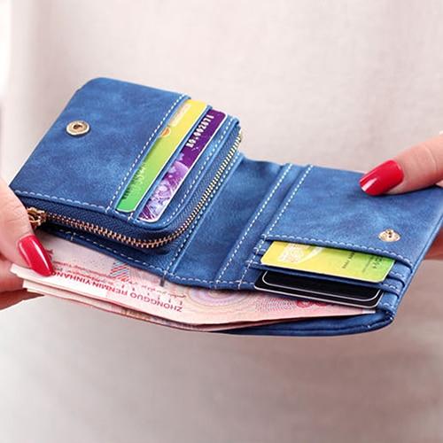 zíper ferrolho curto carteira cartão Main Material : Leather