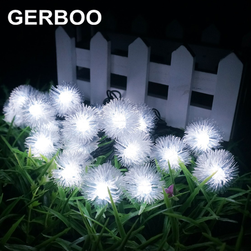 20 LEDS 4.8M Solar Lamp Power LED String Fairy Lights Solar Garlands Garden Christmas Decor For Outdoor 2PCS/LOT