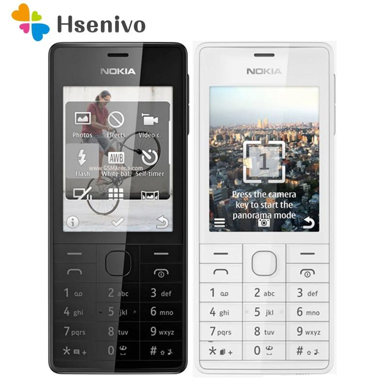 100% Original Unlocked Nokia 515 Single Sim Card 2.4 Inches 5MP Camera 1200mAh Single Core Refurbished Cellphone Free Shipping