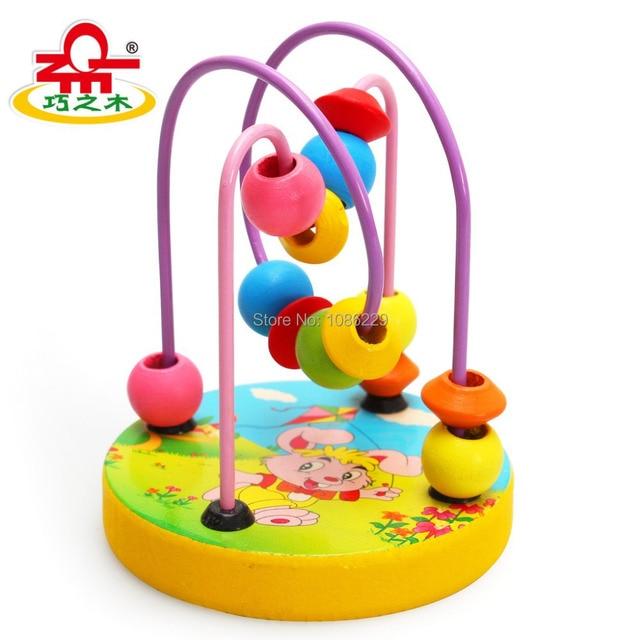 Baby educatonal holzspielzeug mini rund perlen draht Labyrinth ...