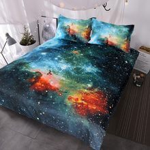 940d62c45146 BlessLiving Galaxy Bed Cover Outer Space Bedding Sets King Red Green Nebula  Duvet Cover Universe Luxury Psychedelic Bed Set 3pcs