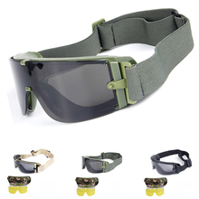 X800 Military Tactical Goggles Airsoft Glasses Paintball Shooting Wargame Army Sunglasses Eye Protection