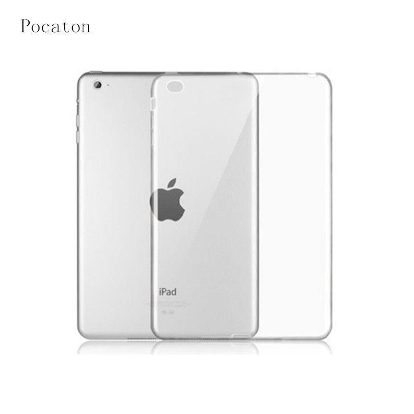 Case for iPad Air 2,Pocaton For Tablet apple Ipad Air 2 Case Slim Crystal Clear TPU Silicone Protective Back Cover soft shell floveme 7 9 mini4 transparant slim thin cover for apple ipad mini 4 case soft silicone gel crystal clear back funda cases