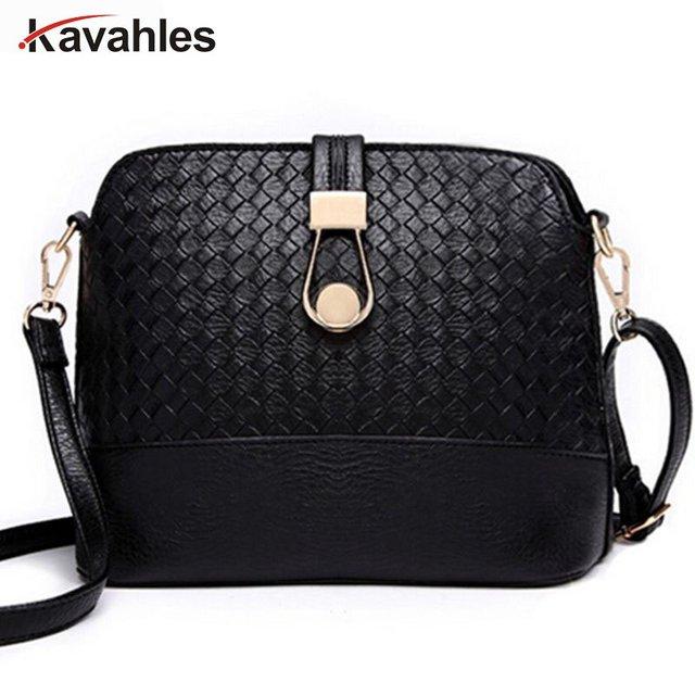 Women Sling Bags Weave shell Women Shoulder Bags Fashion Leather Sling Crossbady Bag messenger bag