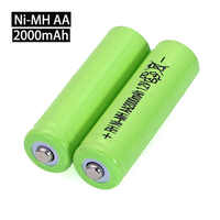 1.2V AA Ni-MH Battery 2000mAh 1.2v Rechargeable Battery High Capacity Camera/Microphone/Mouse /toys batteries