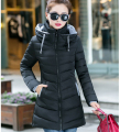 2017 autumn and winter jacket women Cotton-padded jacket slim all-match thickening medium-long wadded jacket female outerwear