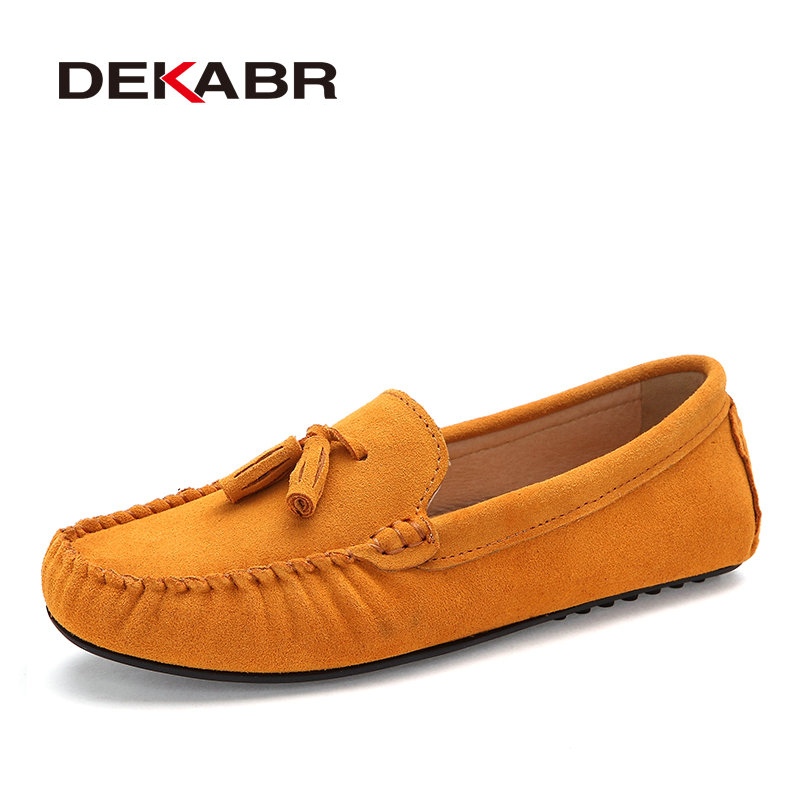 DEKABR Men Genuine Leather Flats Men Casual Loafers Slip On Unisex Shoes Soft Moccasins Comfy Quality Driving Shoes Size 35-44 2017 new brand breathable men s casual car driving shoes men loafers high quality genuine leather shoes soft moccasins flats