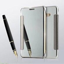 Для Samsung Galaxy J7 2016 чехол жесткий Пластик флип покрытие зеркало прозрачное окно кожаный чехол для Samsung J7 2016 J710 Принципиально Чехол