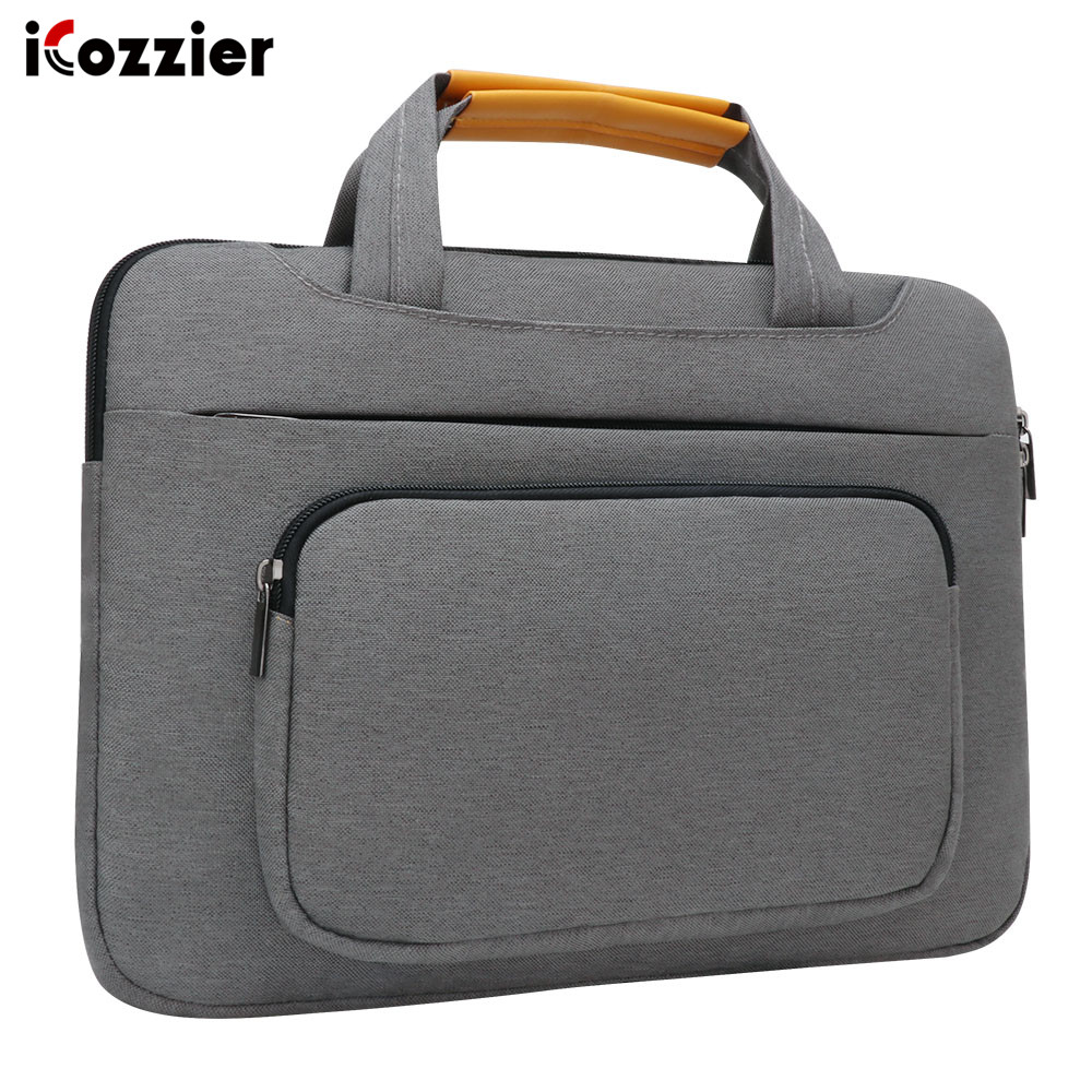 iCozzier 13.3 inch Front Pocket Laptop Sleeve Large Capacity Handbag Protective Business Case Bag for 13 Ultrabook/Notebook-in Laptop Bags & Cases from Computer & Office