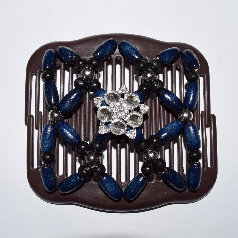 30pcs/lot fashion black dark blue silver and shining beautiful luxury african butterfly magic comb free shipping