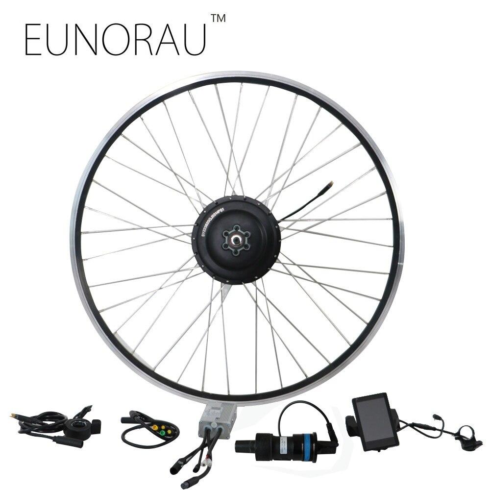 Livraison gratuite 36V350W arrière cassette roue vélo électrique kit de conversion avec capteur de couple
