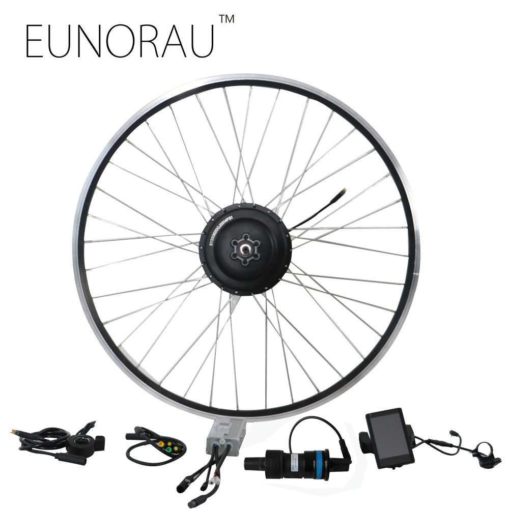 Spedizione gratuita 36V350W cassette ruota posteriore bicicletta elettrica kit di conversione con sensore di coppia