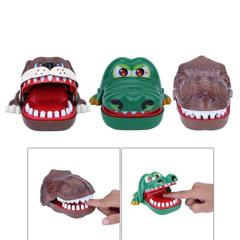 Drôle Trick Jouets Crocodile Dinosaure Chien Bouche Dentiste Mordent le Doigt jeu Nouveauté Joke Jouet Fun Famille Prank Enfants Enfants De Noël cadeau