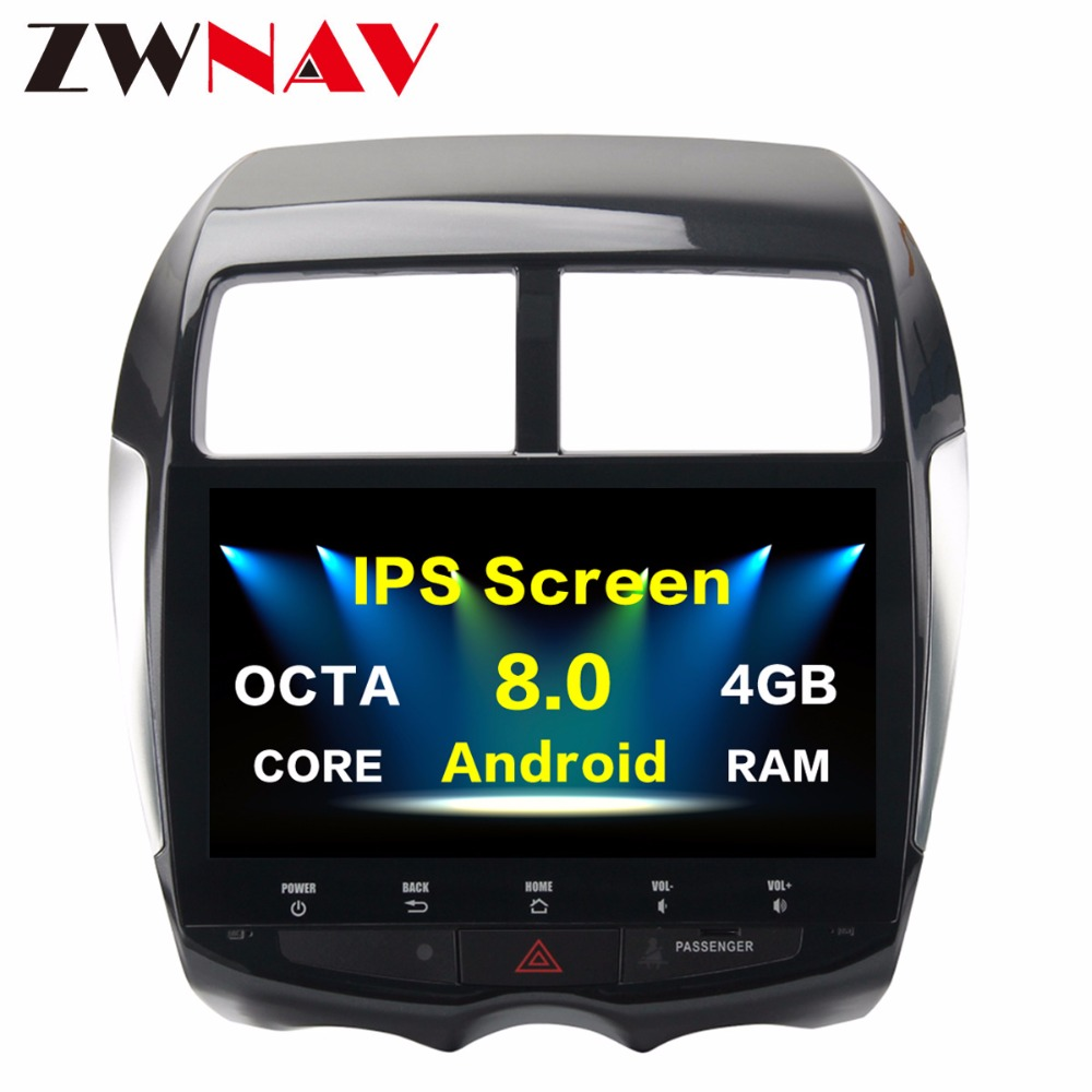 Car 2 Din 8 Core Android 8.0 GPS for Mitsubishi ASX Citroen C4 autoradio navigation head unit multimedia 4Gb+32Gb Android PX5