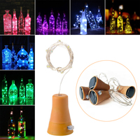 1PCS Solar 2M LED Cork Shaped 20 LED Night Fairy   String     Light   Kork Solarbetrieben Licht Wine Bottle Lamp Party Celebration Gif