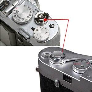 Image 5 - 100 stücke Fensterläden Kamera Auslöser Taste Schwarz Rot Silber Flach Konvexen Konkaven für Canon Nikon Leica für Hasselblad Fuji