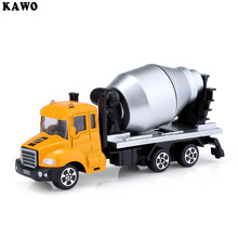 KAWO Kids Alloy 1:64 Scale Concrete Mixer Truck Emulation Model Toy Gift
