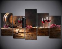 5 Pieces Set HD Still Life Wine Glass Pictures Painting On Canvas Painting Wall Art Pictures