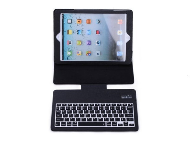 Fashoin Design Ultra-thin Bluetooth Wireless Silicone Keyboard Leather Case Flip Cover for Apple iPad Air ipad 5 free shipping