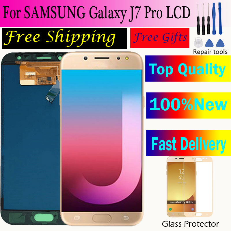 <font><b>J7</b></font> <font><b>Pro</b></font> J730 SM-J730F <font><b>LCD</b></font> <font><b>Screen</b></font> <font><b>Replacement</b></font> for Samsung Galaxy J730G J730GM <font><b>LCD</b></font> Display <font><b>Screen</b></font>+Touch <font><b>Screen</b></font> Digitizer image