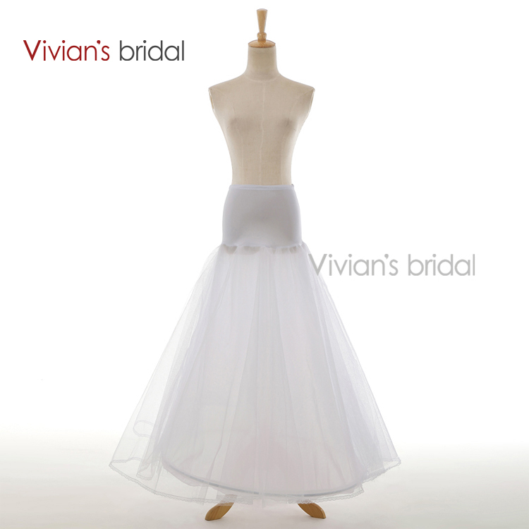 Vivians Bridal A-Line Underskirt Bridal Accessories Petticoat White Free Shipping Hot Sale Good Quality For Wedding 8860